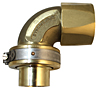 End Fittings - 90º - Male Sil-Braze Split Clamp to Hose